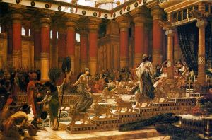 The Visit of the Queen of Sheba to King Solomon; Edward Poynter, 1890