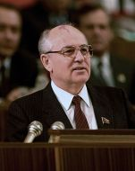 Mikhail Gorbachev Look at his forehead, does that birthmark look like a dragon??? Of course not!