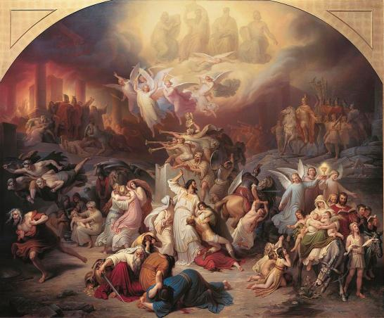 The Destruction of Jerusalem by Titus. Wilhelm von Kaulbach, 1846