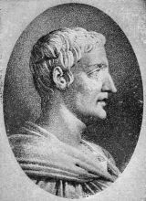 Portrait of Tacitus, based on an antique bust.
