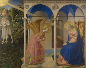 The Annunciation by Fra Angelico, created 1430-1432.