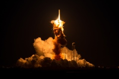 Orbital Sciences Antares Rocket Exploded Shortly After Takeoff. Photo Credit NASA/Joel Kowsky.
