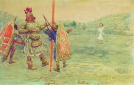 Goliath laughs at David, 1915, by Ilya Repin