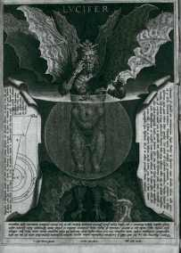 Lucifer, by Alessandro Vellutello (1534), for Dante's Inferno, canto 34