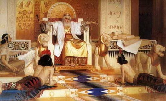 Vanity of vanities, all is vanity. Old and meditative king Solomon by Isaac Asknaziy.