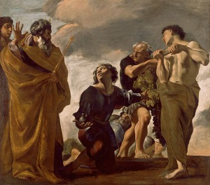 Moses and the Messengers from Canaan, by Giovanni Lanfranco, 1621-1624.