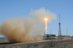 On April 28, 2015, Russia launched the unmanned Progress 59 cargo ship on a one-day delivery flight to the International Space Station.