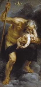 Saturn devouring his son by Peter Paul Rubens, 1636-1638.