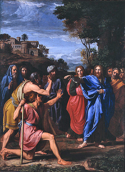 Christ healing the blind, by Nicolas Colombel, 1682.