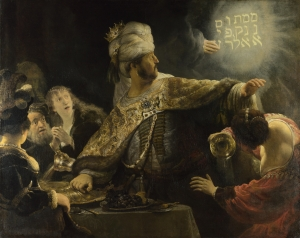 Belshazzar's Feast by Rembrandt, 1635, The National Gallery, London.