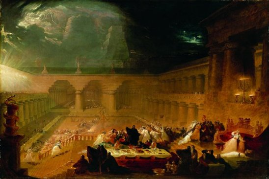 Belshazzar's Feast by John Martin, 1821.