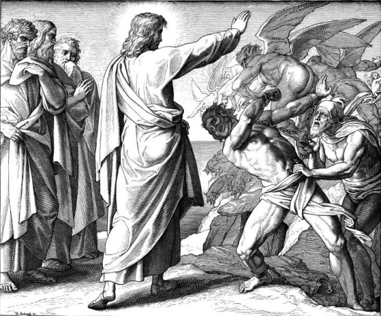 Jesus casting out Legion from the demoniac