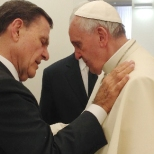 Kenneth Copeland with Pope Francis at the Vatican on June 24, 2014.