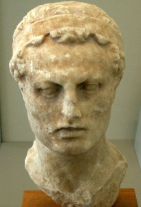 Bust of Antiochus IV of Syria.