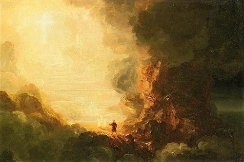 The Pilgrim of the Cross at the End of His Journey by Thomas Cole, 1841.