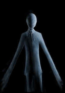 Artistic depiction of the Slender Man by LuxAmber. Image provided by Wikipedia.