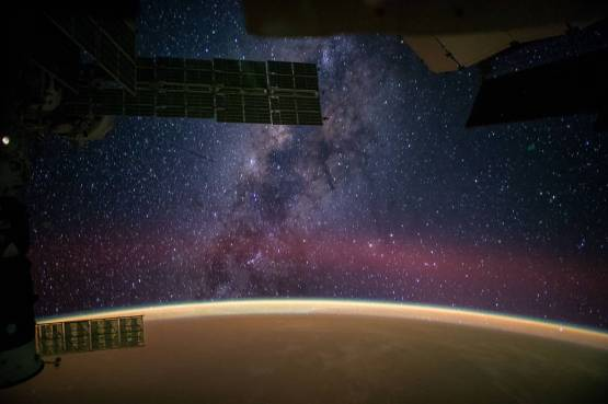 Milky Way Galaxy taken from the International Space Station, September 28, 2014, by NASA astronaut Reid Wiseman .