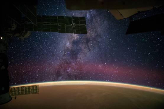 Milky Way Galaxy taken from the International Space Station, September 28, 2014, by NASA astronaut Reid Wiseman .