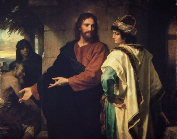 Christ and the Rich Young Ruler by Heinrich Hofmann, 1889.