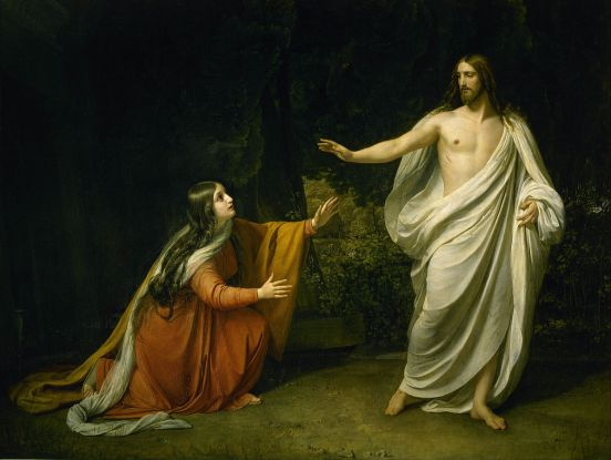 Christ's Appearance to Mary Magdalene after the Resurrection. Painting by Alexander Ivanov, 1835.