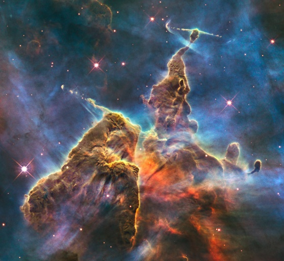 """Mystic Mountain"" taken by the Hubble Space Telescope. Image credit: ESA/NASA."