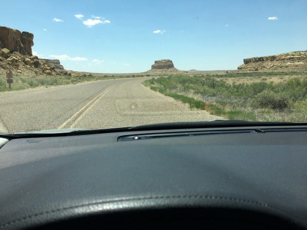 Driving into Chaco Canyon