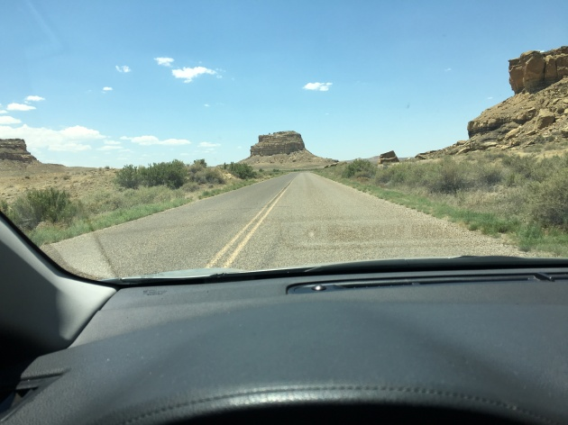 Driving into Chaco with Fajada Butte